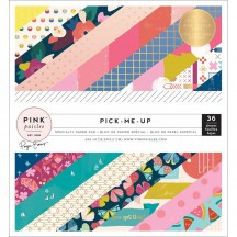 "Pink Paislee Paige Evans Pick Me Up  6""x6"" Single-Sided Paper Pad - 36 Sheets 310626"