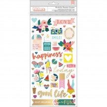 Pink Paislee Paige Evans Pick Me Up Chipboard Accent & Phrase Thickers 310631
