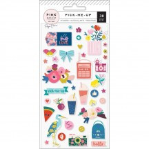 Pink Paislee Paige Evans Pick Me Up Puffy Stickers 310633