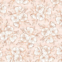 "Pink Paislee Auburn Lane Printed Copper Foil Vellum 12""x12"" Sheet 310677"