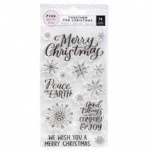 Pink Paislee Together for Christmas Clear Acrylic Stamp Set 310847