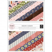 "Pink Paislee Again & Again 6""x8"" Single-Sided Paper Pad 310904"