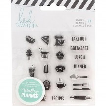 Heidi Swapp Memory Planner Fresh Start Food Clear Stamp Set 313895