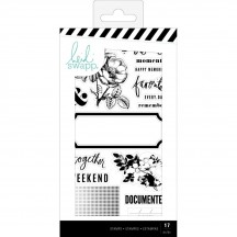 Heidi Swapp Emerson Lane Words & Icons Clear Stamp Set 314432