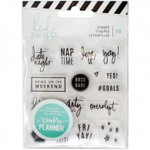 Heidi Swapp Memory Planner Weekend Clear Stamp Set 315132