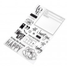 Heidi Swapp Honey & Spice Words & Icons Clear Stamp Set 315209