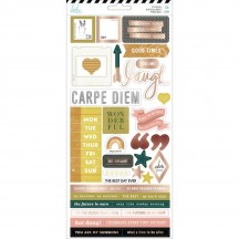 "Heidi Swapp Honey & Spice 6""x12"" Accent & Phrase Stickers 315211"