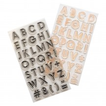 Heidi Swapp Old School Alphabet Clear Stamp Set 315540
