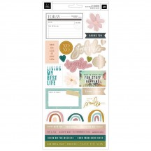 "Heidi Swapp Carefree 6""x12"" Accent Cardstock Stickers 315681"