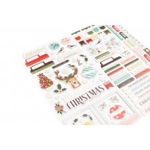 American Crafts Vicki Boutin Warm Wishes Christmas Merry & Bright Chipboard Accent Thickers 34010774