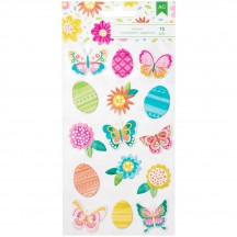 American Crafts Hello Spring Icon Puffy Stickers 320550