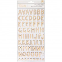 American Crafts One Canoe Two Creekside Letter Thickers 320683