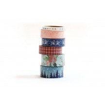 American Crafts One Canoe Two Creekside Washi Tape Rolls 320684