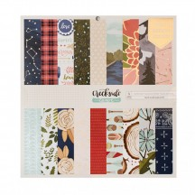 "American Crafts One Canoe Two Creekside 12""x12"" Paper Pad 36 Sheets 320691"