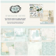 "49 and Market Vintage Artistry Sky 12""x12"" Collection Pack VAC32082"