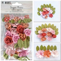 49 and Market Sugar Posies Tutti Frutti Pink Flowers & Leaves SUG-32402