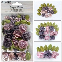49 and Market Sugar Posies Huckleberry Purple Flowers & Leaves SUG-32426