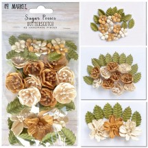49 and Market Sugar Posies Butterscotch Flowers & Leaves SUG-32433