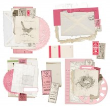 49 and Market Vintage Artistry Blush Ephemera Stacks Die-Cut Pieces VAC-33331
