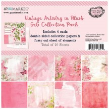 """49 and Market Vintage Artistry Blush 6""""x6"""" Collection Pack  VAC23409"""