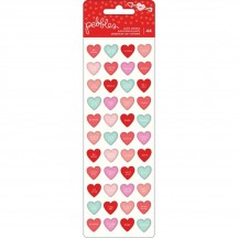Pebbles Forever My Always Mini Puffy Valentine Stickers 733635