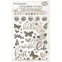 49 and Market Vintage Artistry Essentials Wishing Bubbles & Trinkets Epoxy Coated Sticker Embellishments VAE33645