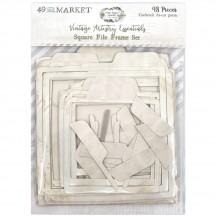 49 and Market Vintage Artistry Essentials Square File Frame Set Die-Cut Cardstock VAE33690