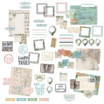 49 and Market Vintage Artistry Anywhere Ephemera Bits Die-Cut Pieces VTA-33829