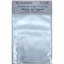 """49 and Market Skinny & Squared Foundations 6""""x8"""" Page Protectors FA339959"""
