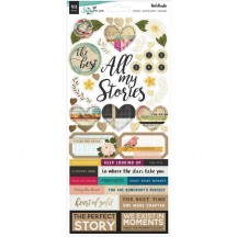 "American Crafts Vicki Boutin Storyteller 6""x12"" Accent & Phrase Stickers 34001340"