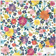 "American Crafts Paige Evans Wonders Floral Printed Acetate 12""x12"" Sheet 34004819"