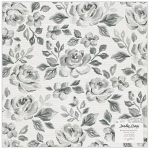 "American Crafts Maggie Holmes Garden Party Rose Bush Vellum 12""x12"" Sheet 34004895"