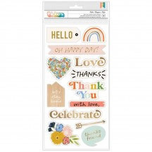 American Crafts Jen Hadfield Reaching Out Hello Foam & Cardstock Phrase Thickers 34005568
