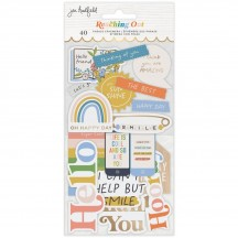 American Crafts Jen Hadfield Reaching Out Phrase Ephemera Die-Cut Embellishments 34005569
