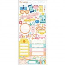 """American Crafts Obed Marshall Fantastico 6""""x12"""" Accent & Phrase Stickers 34007833"""