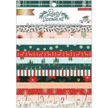 """Crate Paper Busy Sidewalks Christmas 6""""x8"""" Gold Foil Paper Pad 34010593"""