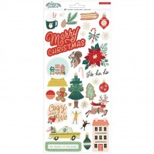 """Crate Paper Busy Sidewalks Christmas 6""""x12"""" Accent Cardstock Stickers 34010598"""