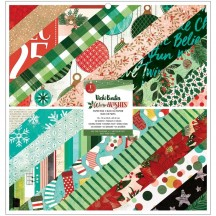 """American Crafts Vicki Boutin Warm Wishes Christmas 12""""x12"""" Paper Pad 34010769"""