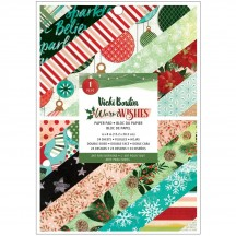 """American Crafts Vicki Boutin Warm Wishes Christmas 6""""x8"""" Paper Pad 34010770"""