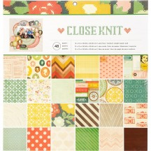 "Crate Paper Close Knit 12""x12"" Paper Pad 48 Sheets 341848"