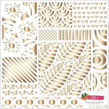 "American Crafts Amy Tangerine Hustle & Heart Gold Foil 12""x12"" Specialty Paper 341881"