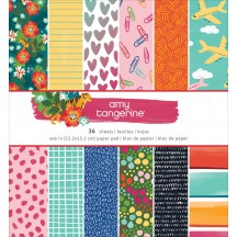 "American Crafts Amy Tangerine Hustle & Heart 6""x6"" Paper Pad 341883 36 Sheets"