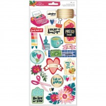 American Crafts Amy Tangerine Hustle & Heart Layered Paper Stickers 341885