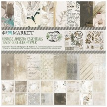 "49 and Market Vintage Artistry Essentials 12""x12"" Collection Pack VAE-34192"