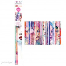 Jane Davenport Mixed Media Collage Paper Sheets - Faces 342063