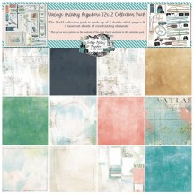 "49 and Market Vintage Artistry Anywhere 12""x12"" Collection Pack VTA34277"