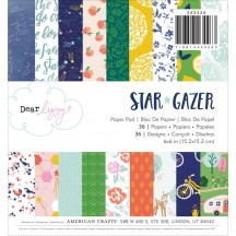 "American Crafts Dear Lizzy Star Gazer 6""x6"" Paper Pad 343426 36 Sheets"