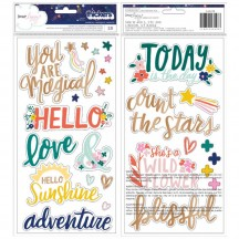 American Crafts Dear Lizzy Star Gazer Magical Chipboard Phrase & Accent Thickers 343428