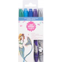 Jane Davenport Mixed Media Glitz-Sea Sparkle Markers Cool Oceans 343546