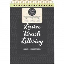 American Crafts Kelly Creates Learn Brush Lettering Large Brush Workbook 343561